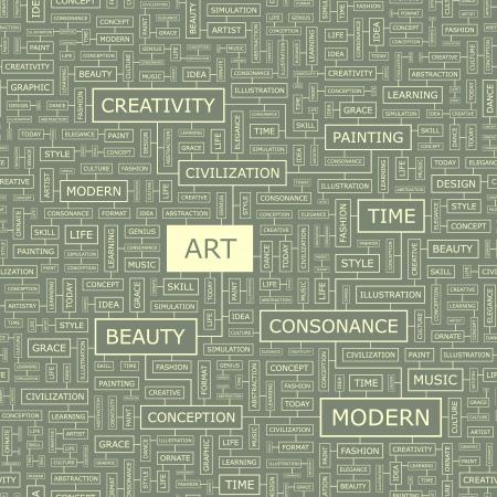 ART  Word collage Stock Vector - 17540429