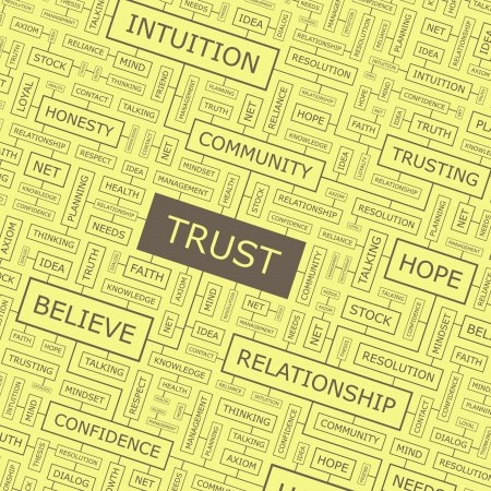axiom: TRUST  Word collage  Illustration