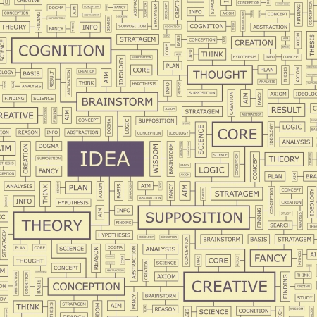 axiom: IDEA  Word collage