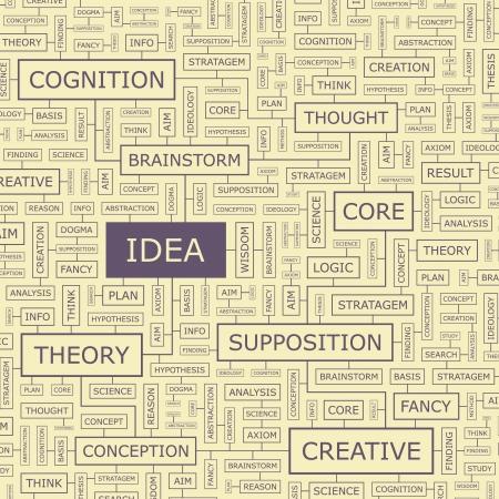IDEA Word collage Standard-Bild - 17540435