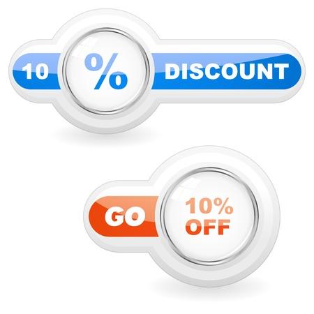 Discount button templates Stock Vector - 17566592