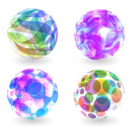 Abstract globe set Stock Vector - 17568207