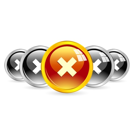 Rejected vector buttons Stock Vector - 19802868