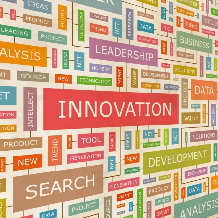 patente: INNOVACI�N collage Palabra Vectores