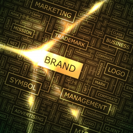 BRAND  Word collage  Illustration