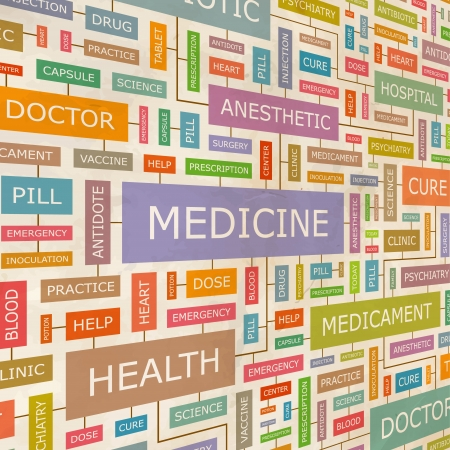 MEDICINE  Word collage  Vector