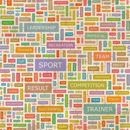 olympic game: SPORT  Word collage