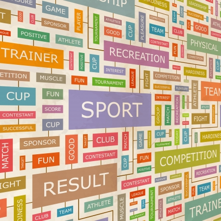 SPORT  Word collage  Vector