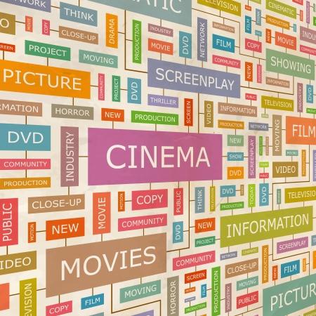 CINEMA  Word collage  Illustration