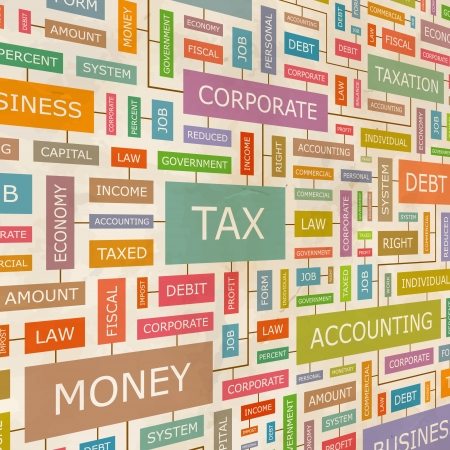 Accountant: TAX  Word collage