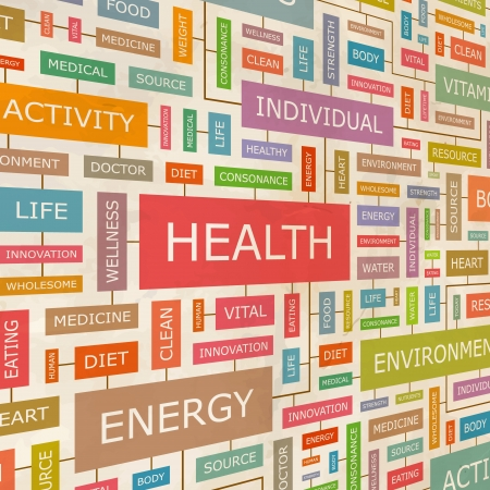 wellness background: HEALTH  Word collage