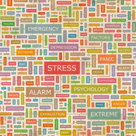 STRESS  Word collage  Vector