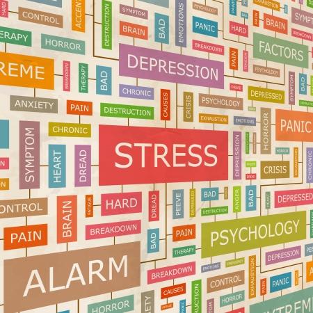 psicologia: ESTRÉS collage Palabra