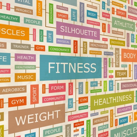 FITNESS  Word collage Vector