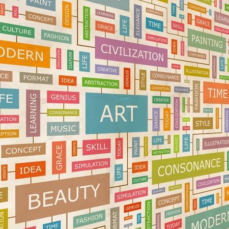 love cloud: ART  Word collage  Illustration