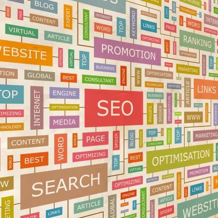 keywords link: SEO  Word collage