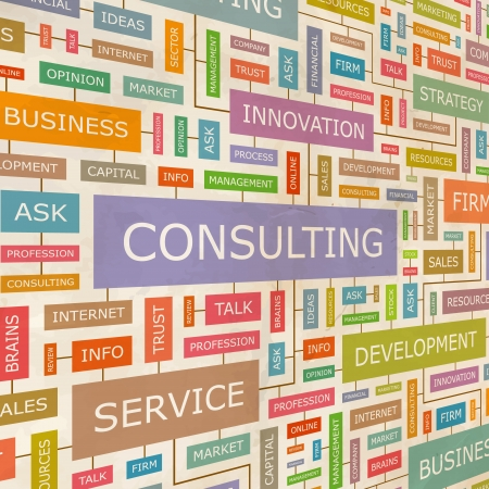 consulting concept: CONSULTING  Word collage