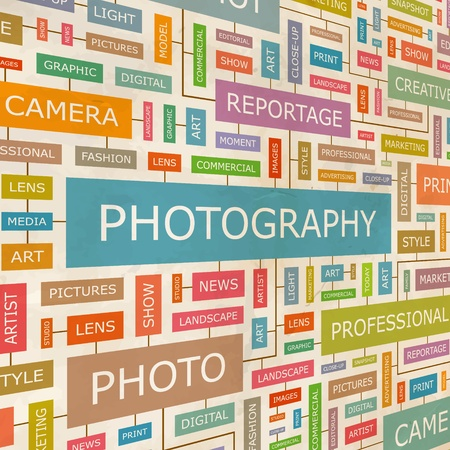 PHOTOGRAPHY  Word collage Stock Vector - 18350244