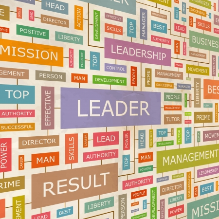 LEADER  Word collage  Vector