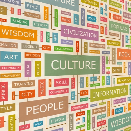 CULTURE  Word collage  Stock Vector - 18350229