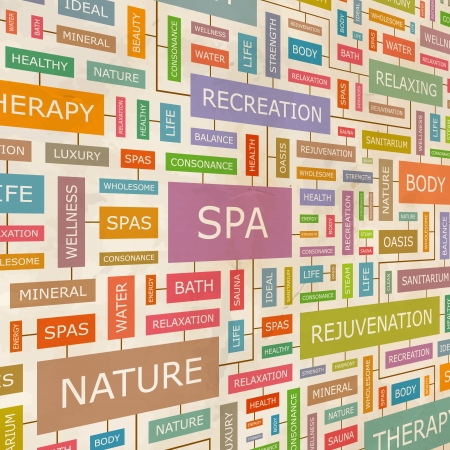 SPA  Word collage Stock Vector - 18350218