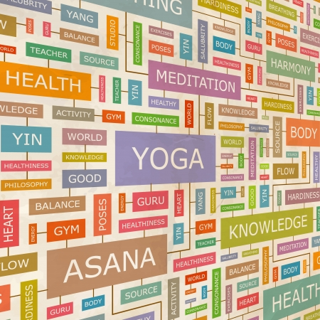 YOGA  Word collage  Vector
