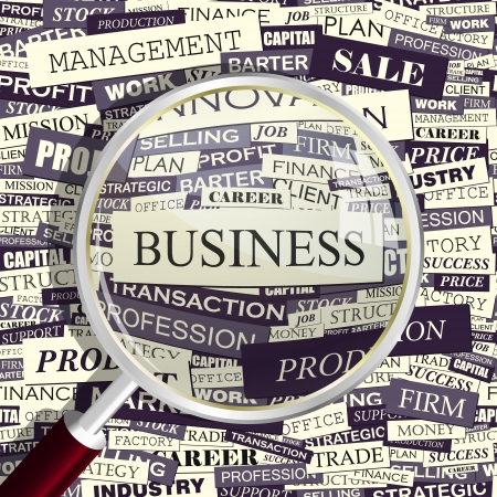 BUSINESS  Word collage  Vector