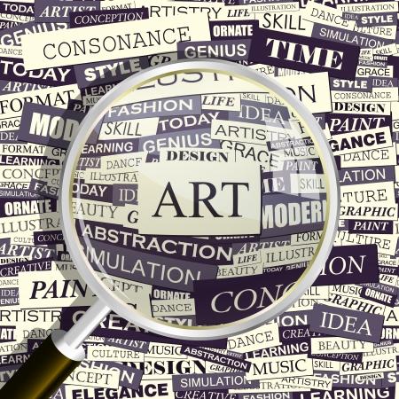 ART Word collage Standard-Bild - 17569015