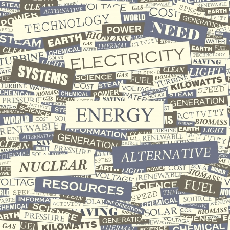 ENERGY  Word cloud vector illustration  Vector