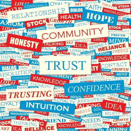 TRUST  Word collage Stock Vector - 19525773