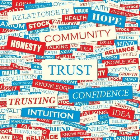 TRUST  Word collage Stock Vector - 19525773