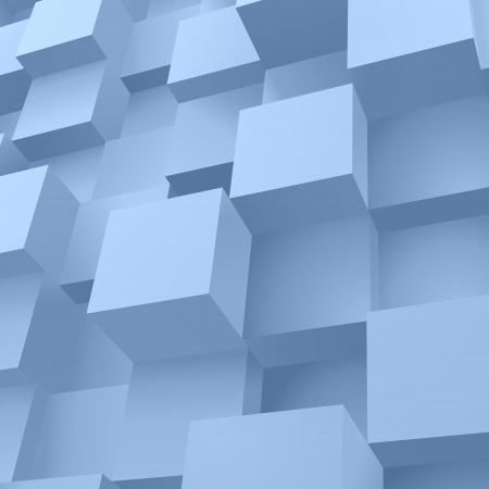 3d blocks structure background illustration Vector