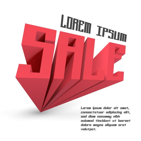 SALE  3d word  Vector illustration  Vector