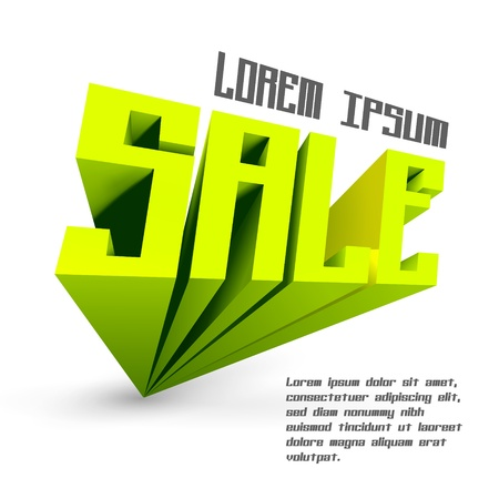 SALE  3d word   illustration  Vector