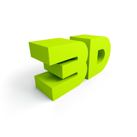 3d word   illustration  Vector