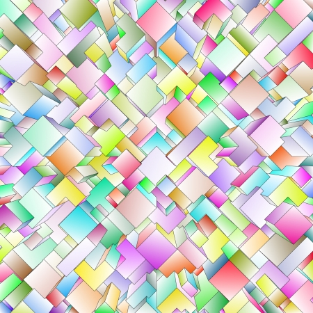 3d blocks structure background  Vector illustration  Vector