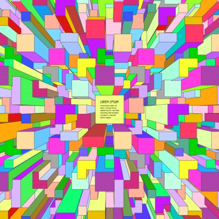 3d blocks structure background   illustration Stock Vector - 19199807