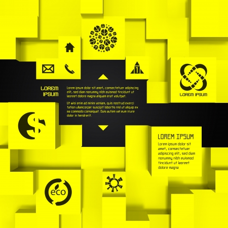 3D business illustration Vector background