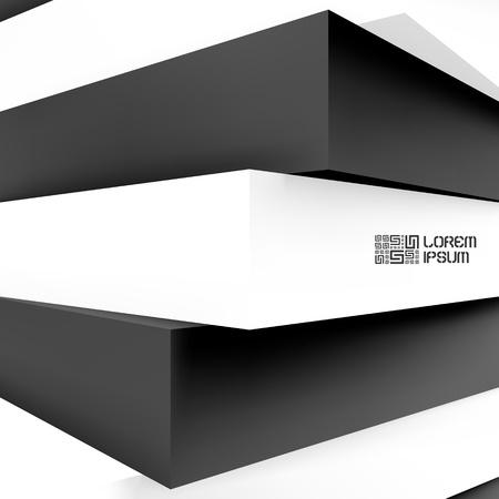 corporative: 3d blocks structure background