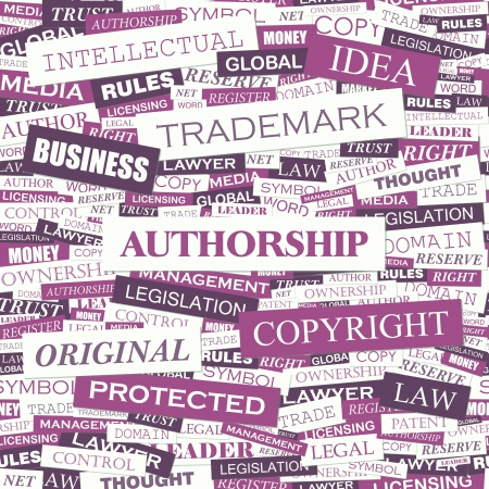 AUTHORSHIP  Word cloud concept illustration Stock Vector - 20907027