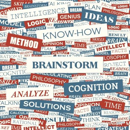 BRAINSTORM  Word cloud concept illustration Stock Vector - 20168288