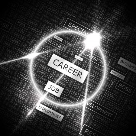 CAREER  Word cloud concept illustration Imagens - 20104997