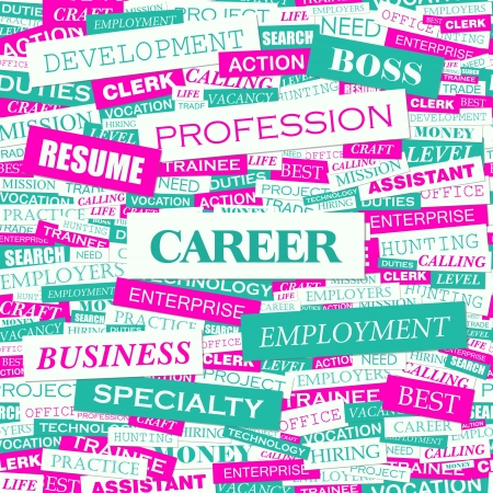 CAREER  Word cloud illustration  Tag cloud concept collage  Vector illustration  Vector
