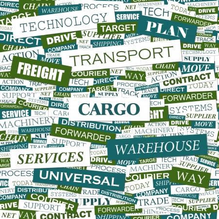 export import: CARGO  Word cloud concept illustration