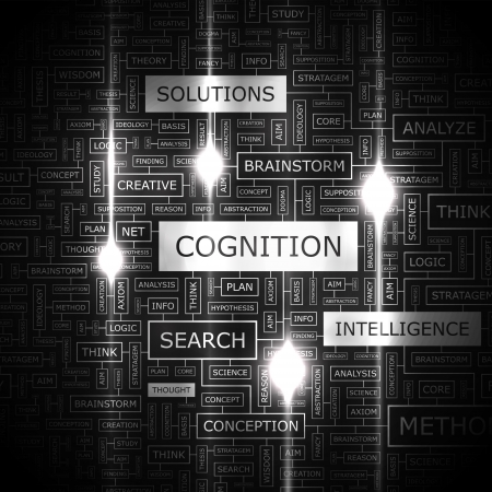 COGNITION  Word cloud concept illustration    Vector
