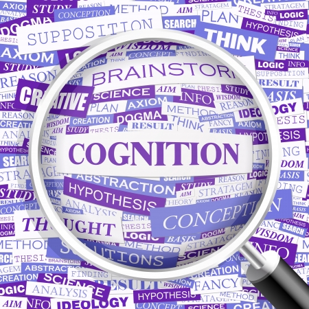 cognicion: COGNICIÓN Palabra nube concepto ejemplo Vectores