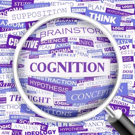 cognition: COGNITION  Word cloud concept illustration