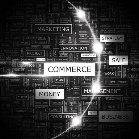 finance background: COMMERCE  Word cloud concept illustration  Illustration