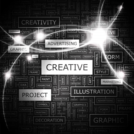 CREATIVE Word Cloud Konzept Illustration