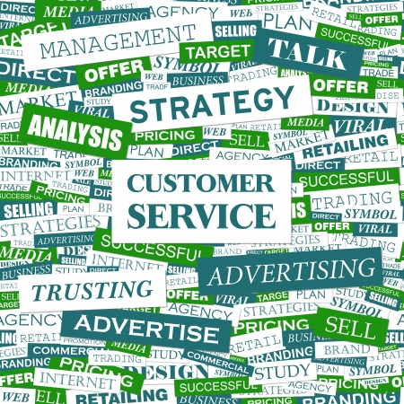 CUSTOMER SERVICE  Word cloud concept illustration    Vector